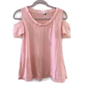 ANTHRO AKEMI+KIN Blush Salma open shoulder top
